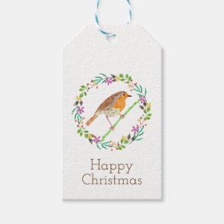 Robin the bird of Christmas Gift Tags