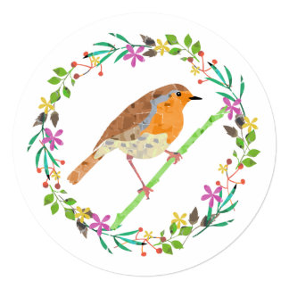 Robin the bird of Christmas  Party Invitation