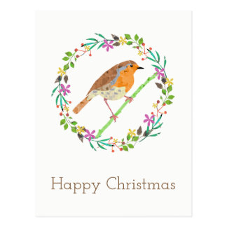 Robin the bird of Christmas Postcard
