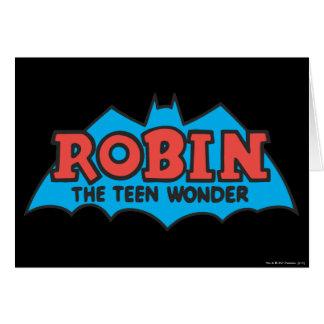Robin The Teen Wonder Logo Card