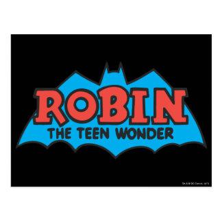 Robin The Teen Wonder Logo Postcard