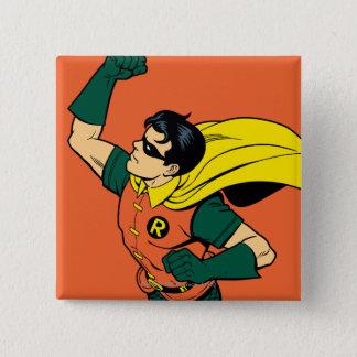 Robin Uppercut 2 Inch Square Button