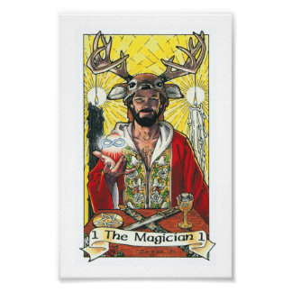 Robin Wood Tarot - Major 1 The Magician Poster