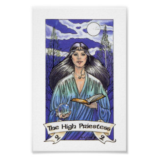 Robin Wood Tarot - Major 2 The High Priestess Poster