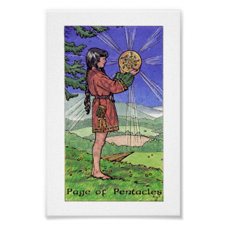 Robin Wood Tarot - Page of Pentacles Poster