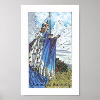 Robin Wood Tarot - Queen of Swords Poster