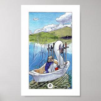 Robin Wood Tarot - Six of Swords Poster