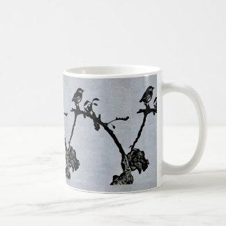 Robin Woodcut Print Style Mug