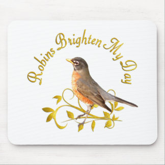 Robins Brighten My Day Mouse Pad