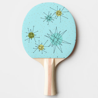 Robin's Egg Blue Atomic Starburst Ping Pong Paddle