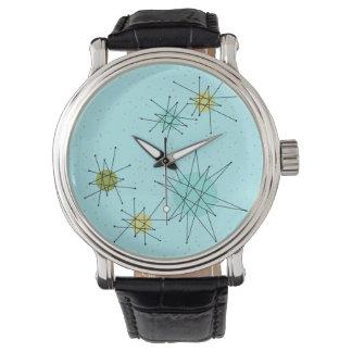 Robin's Egg Blue Atomic Starbursts  eWatch Watch