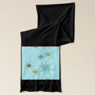 Robin's Egg Blue Atomic Starbursts Jersey Scarf