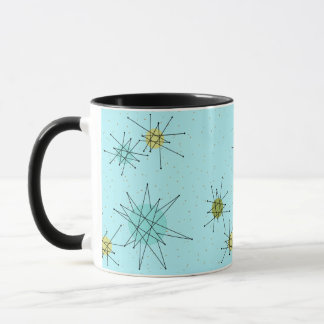 Robin's Egg Blue Atomic Starbursts Mug