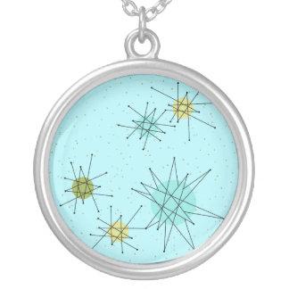 Robin's Egg Blue Atomic Starbursts  Necklace