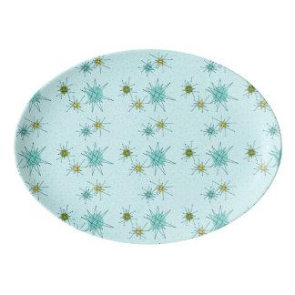 Robin's Egg Blue Atomic Starbursts Platter
