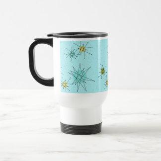 Robin's Egg Blue Atomic Starbursts Travel Mug