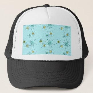 Robin's Egg Blue Atomic Starbursts Trucker Hat