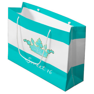 Robins Egg Blue Crown Custom Gift Bag