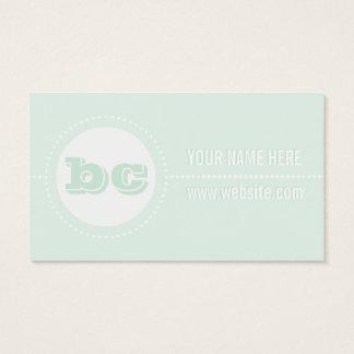 Robin's Egg Blue Dotted Polka Dot Business Cards