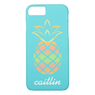 Robins egg blue Pineapple Phone Case