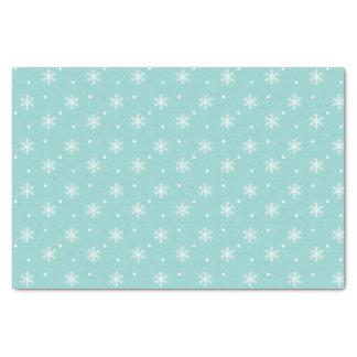 Robin's Egg Blue Snowflake Pattern Tissue Paper