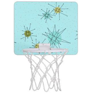 Robin's Egg Blue Starbursts Mini Basketball Hoop