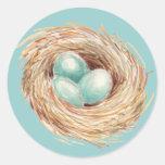 Robin's Egg Nest Blue Sticker