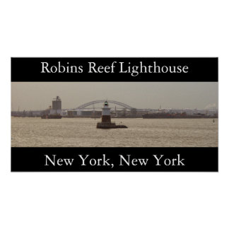 Robins Reef Lighthouse Poster