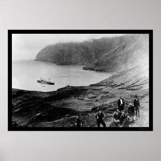 Robinson Crusoe Island in Chile 1915 Poster