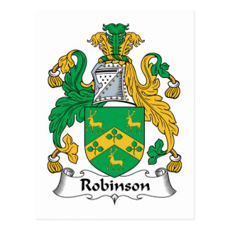 Robinson Family Crest Postcard