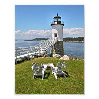 Robinson Point Lighthouse, Isle Au Haut, Maine Photo Print