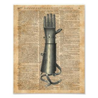 Robo Hand,Artifical Arm Dictionary Art Photo Print