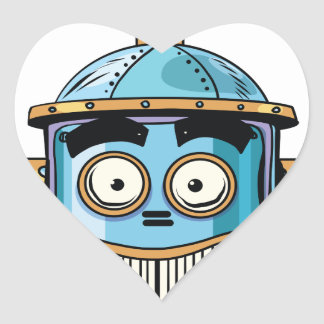 Robo Heart Sticker