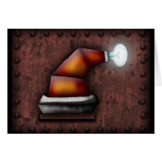 Robo-Santa Hat, greeting card