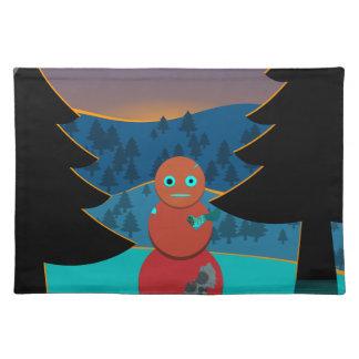 Robo' snowman placemat