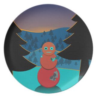Robo' snowman plate
