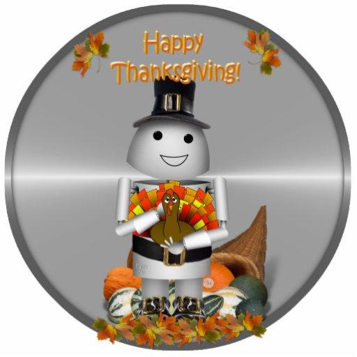 Robo-x9 Celebrates Thanksgiving Acrylic Cut Outs