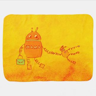 Robomama Geek Robot Baby Blanket