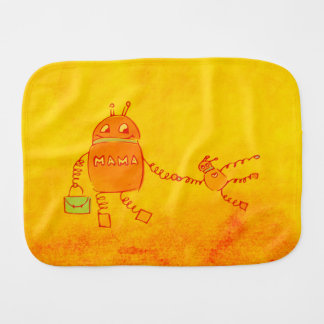 Robomama Geek Robot Baby Burp Cloths
