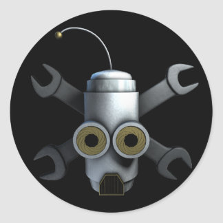 RoboPirates Round Sticker