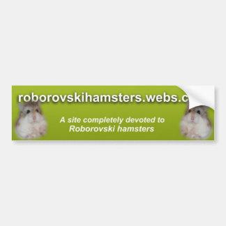 Roborovskihamsters - Bumper sticker 2