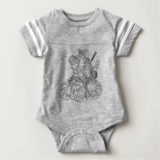 robot-2 baby bodysuit
