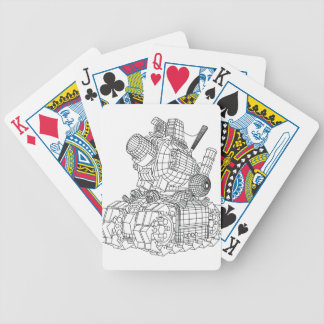robot-2 bicycle playing cards