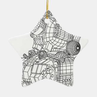 robot-2 ceramic star ornament