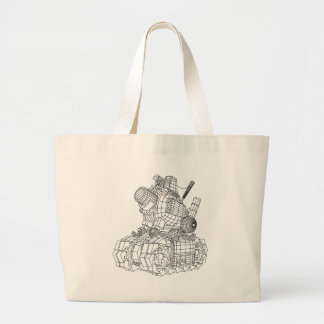 robot-2 large tote bag