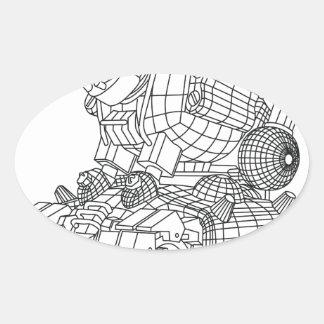 robot-2 oval sticker
