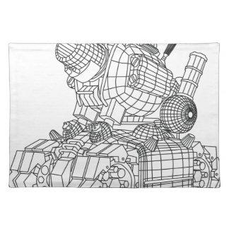 robot-2 placemat