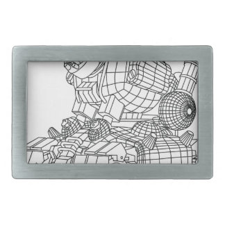 robot-2 rectangular belt buckles