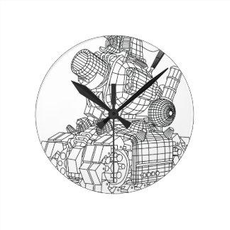 robot-2 round clock