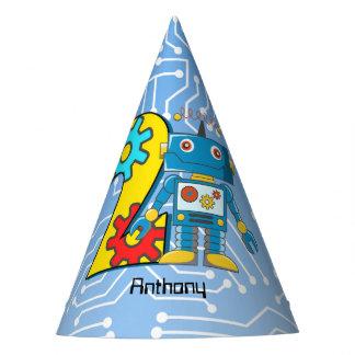 Robot 2nd Birthday Custom Party Hat